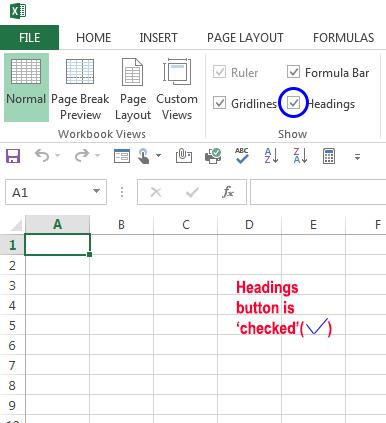Check Box-Headings