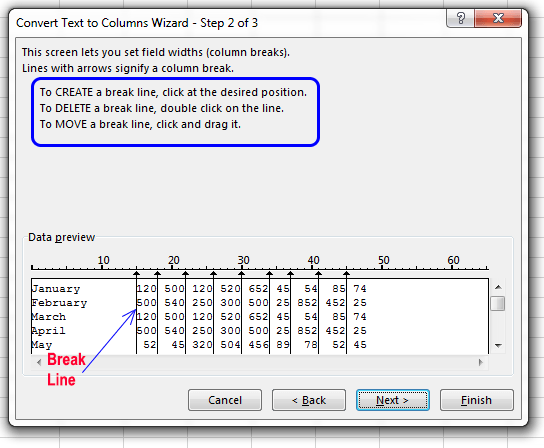 "Using ""Text to Columns"" to split text in Excel"