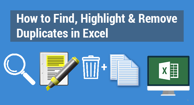 how to find  highlight  u0026 remove duplicates in excel