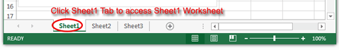 Excel worksheet tab