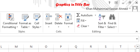 New background graphics with Excel 2013