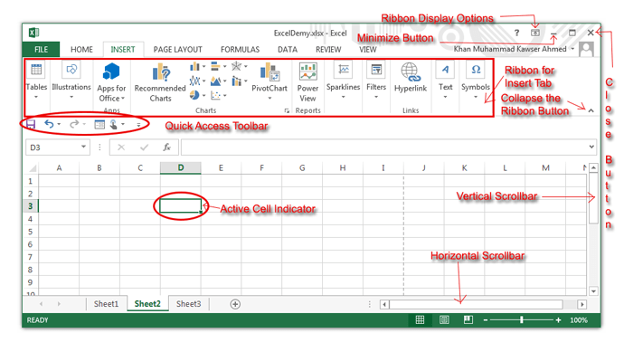 Understanding Excel spreadsheets – Components Of A Spreadsheet