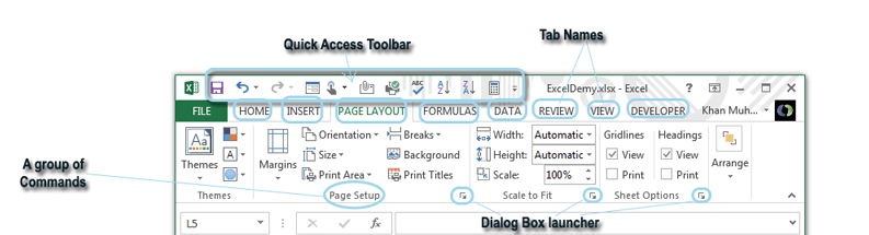 What is Ribbon in Excel.