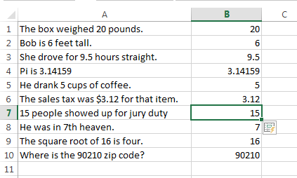 Splitting text in Excel using Flash Fill