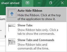 Hide The Ribbon Tabs