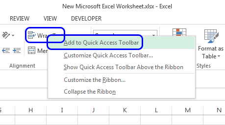 How to customize the Quick Access Toolbar