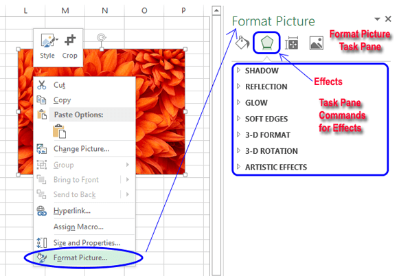 Using task panes in Excel