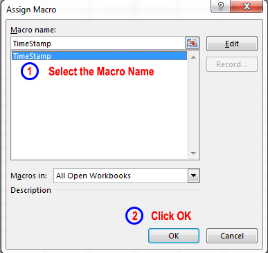 Assigning a macro to a button