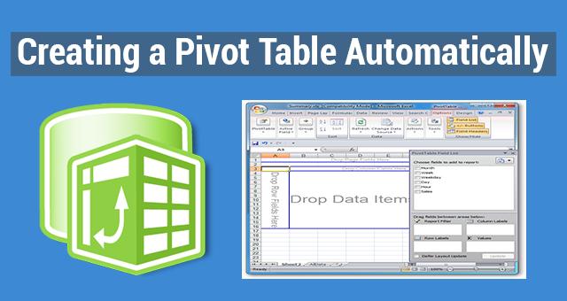 pivot tables excel 2013