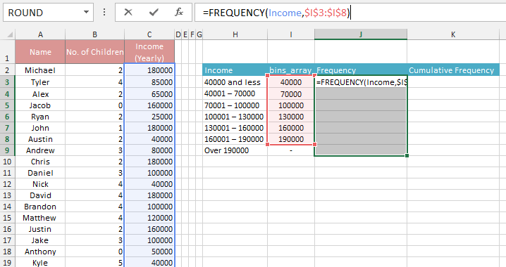 How To Make A Frequency Distribution Table Amp Graph In Excel