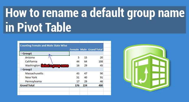 How to rename a default group name in Pivot Table | ExcelDemy