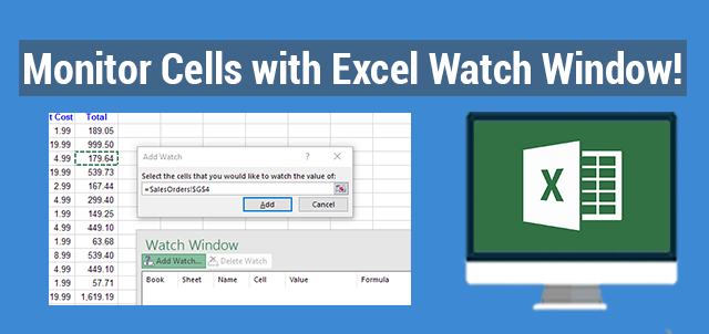 Monitor Cells With Excel Watch Window Exceldemy Com