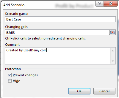 Scenario Manager in Excel 2013 to do Scenario Analysis Image3
