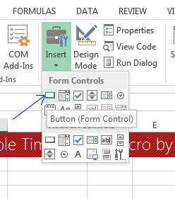 how to assign a macro to a button in Excel