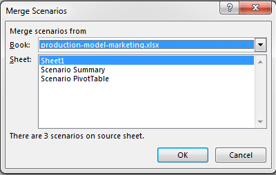 Scenario Manager in Excel 2013 to do Scenario Analysis Image8