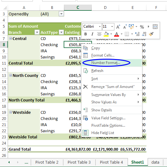 formatting the pivot table exceldemy