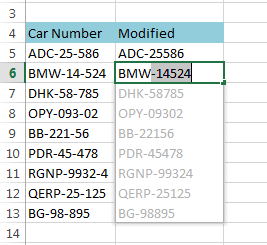 Data clean-up techniques in Excel: Replacing or removing text in cells
