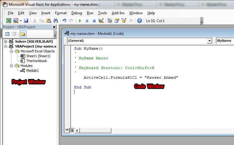 How to create VBA Macros in Excel using Macro Recorder