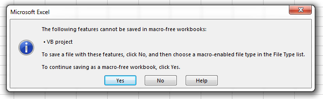 How to save workbooks that contain Macros