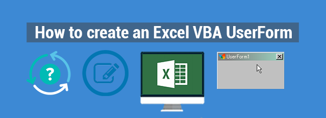 how to create userform in excel vba