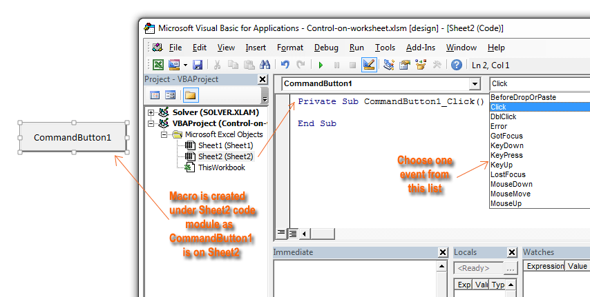 How to Use the ActiveX controls on a Worksheet in Excel