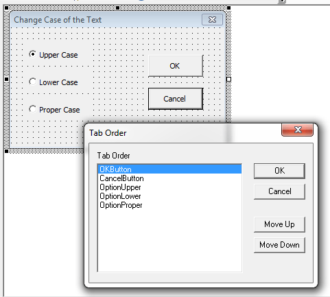 Adding accelerator keys & Controlling tab order in Excel UserForms