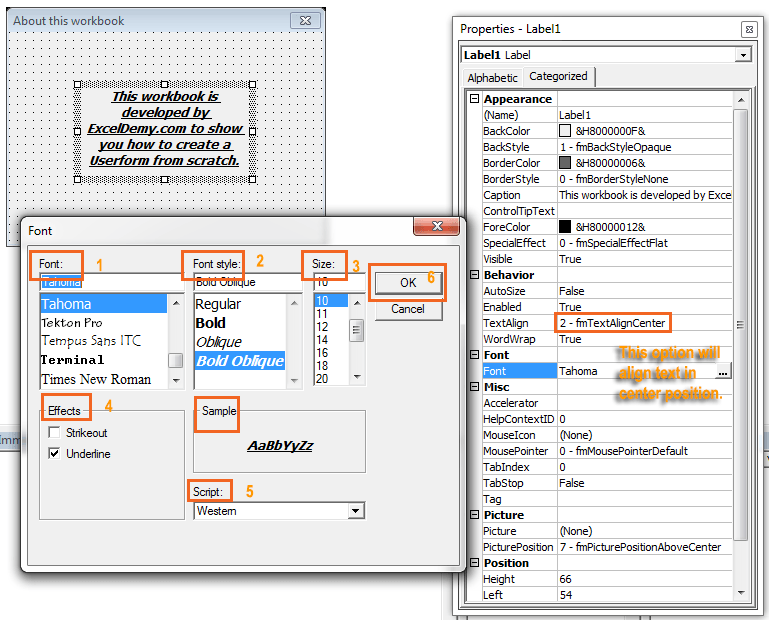 How to create an Excel VBA Userform