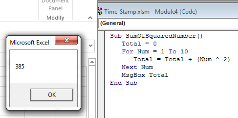 If-Then construct, For-Next loops, With-End With construct, Select Case construct in Excel