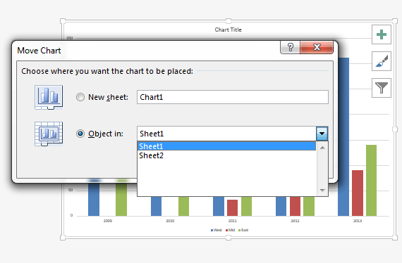 How Excel Handle Charts, Embedded Charts and Chart Sheets ...