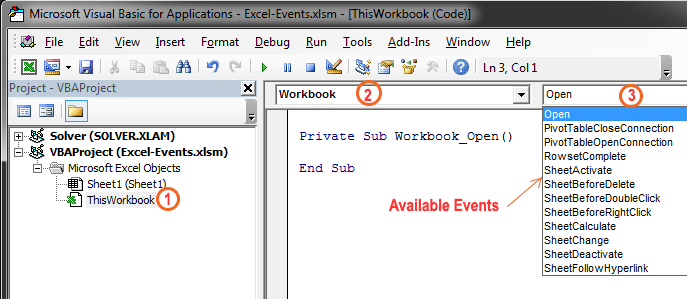What is Excel Events and Their Types