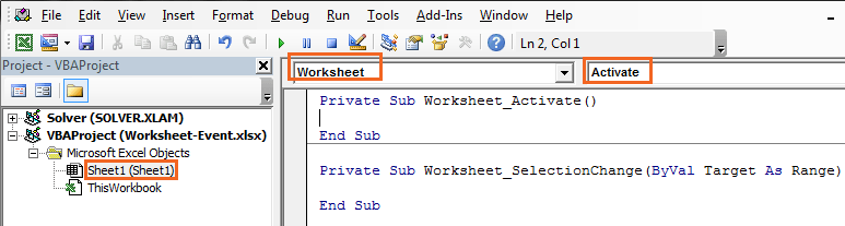 Excel VBA Worksheet Related Events and Their Uses | ExcelDemy