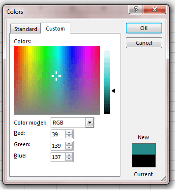 Creating Custom Colors