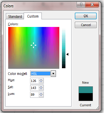 Equivalent HSL Color Codes - RGB Colors