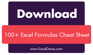 Excel Formulas Cheat Sheet