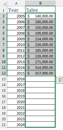 Forecasting in Excel Image 3