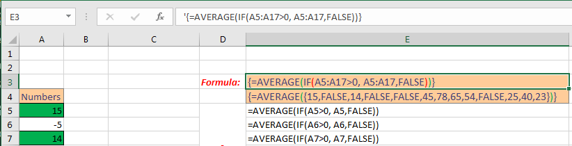 Excel Array Formula Basic Image 2