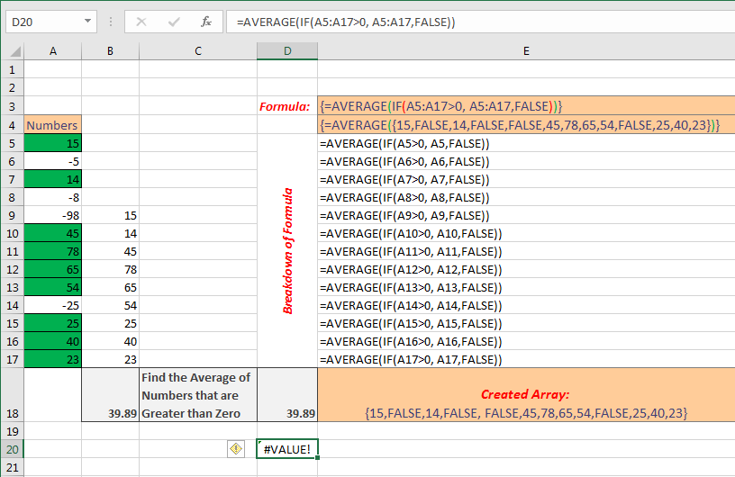 Excel Array formula Basic Image 3
