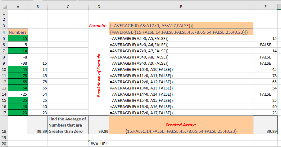 Excel Array Formula Basic Image 4