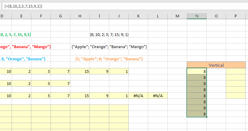 excel array formula