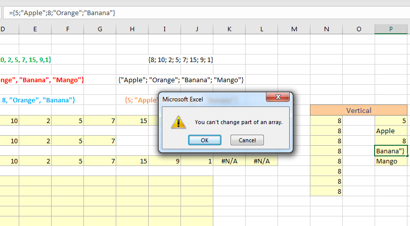 array formula:
