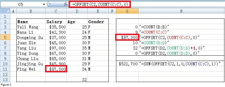 excel offset function image 4