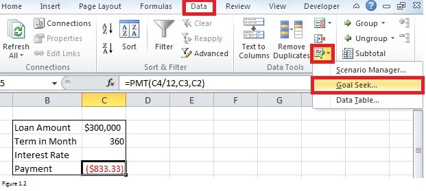 How To Use Goal Seek In Excel 2016 Solve 3 Problems