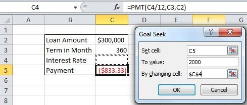 how to use goal seek in excel 2016 - Image 3
