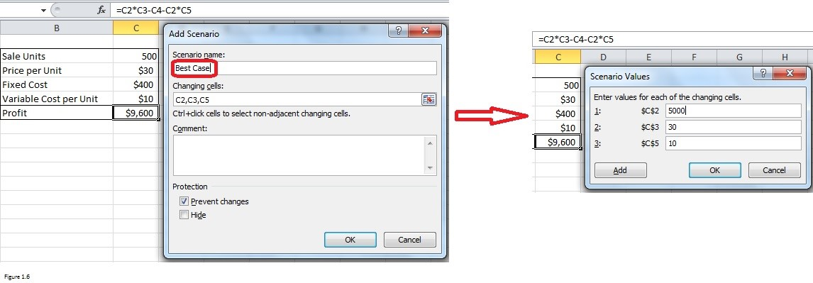 Scenario Manager in Excel Img 6
