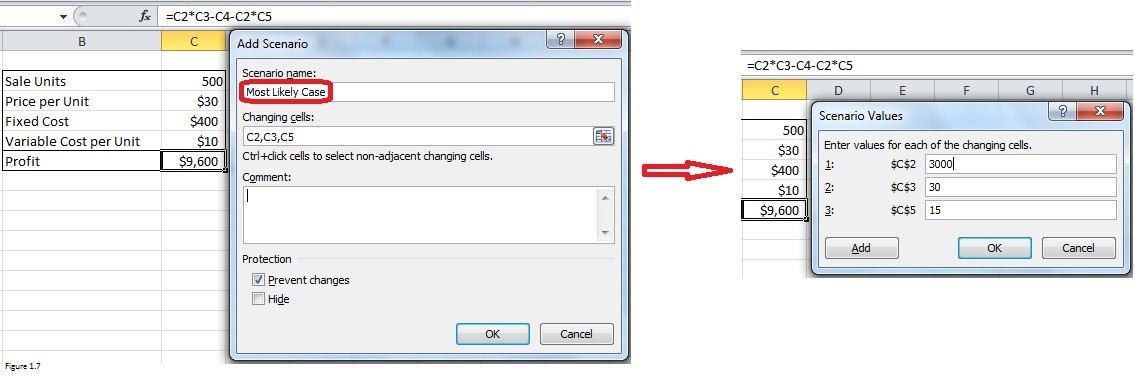 Scenario Manager in Excel Img7
