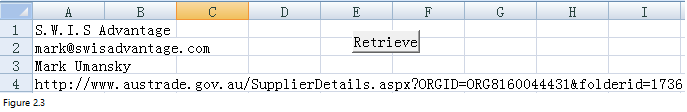 Import data from web to Excel Fig 2.3