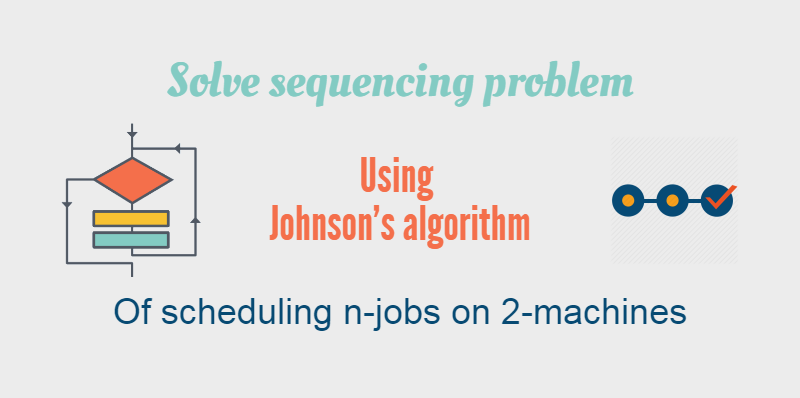 Sequencing problem using Johnson's algorithm of scheduling ...