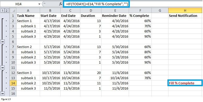 Top Excel Functions and Features for Management Consultants Figure 1.3