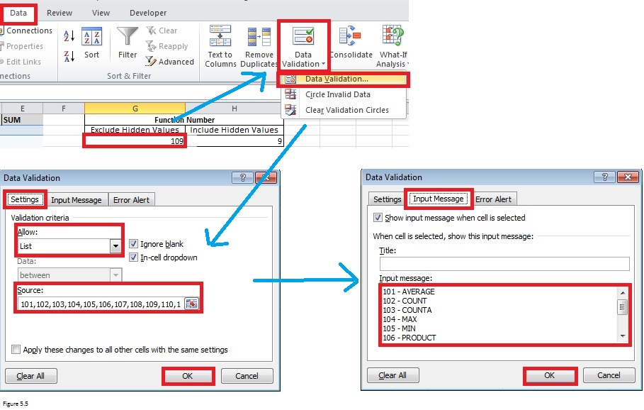 Top Excel Functions and Features for Management Consultants Figure 5.5