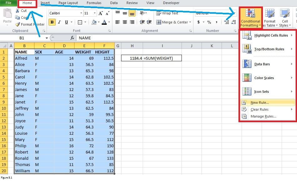 Top Excel Functions and Features for Management Consultants Figure 8.1